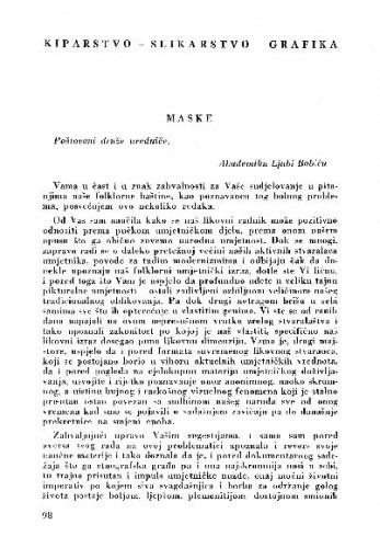 Maske / Marijana Gušić