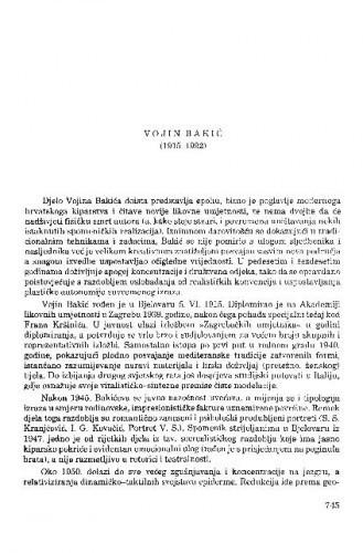 Vojin Bakić (1915-1992) / Tonko Maroević