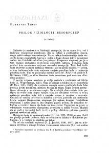 Prilog fiziologiji resorpcije / D. Timet