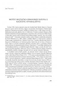 Motivi mletačko-osmanskih ratova u Kačićevu stvaralaštvu / Josip Vrandečić
