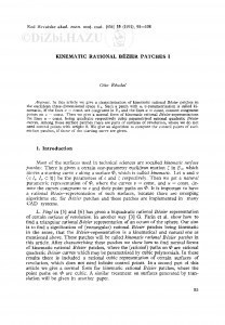 Kinematic rational Bézier patches I / Otto Röschel