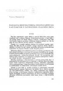 Nazalna respiratorna insuficijencija kao faktor u patogenezi plućnog srca / V. Omerović