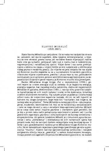 Slavko Mihalić (1928.-2007.) : [nekrolog] / Zvonimir Mrkonjić