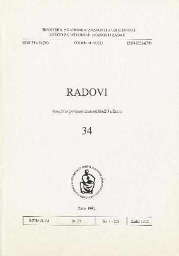 Sv. 34(1992) : Radovi Zavoda za povijesne znanosti HAZU u Zadru