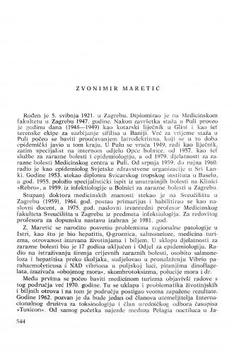 Zvonimir Maretić : [biografije novih članova Akademije]