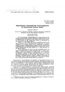 Regioselective intramolecular functionalization of nonactived carbon atoms / Ž. Čeković