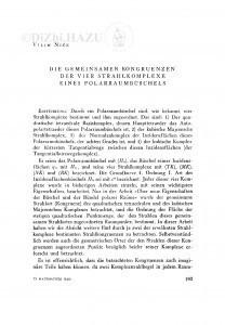 <Die> gemeinsamen Kongruenzen der vier Strahlkomplexe eines Polarraumbüschels / V. Niče