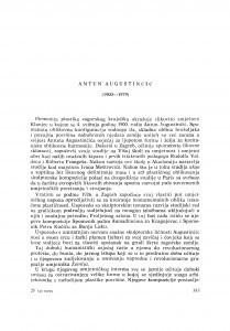 Antun Augustinčić (1900-1979) : [nekrolozi] / A. Mohorovičić
