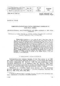 Gornjopleistocenska fauna mekušaca Šandalje II kod Pule (Istra) / M. Poje