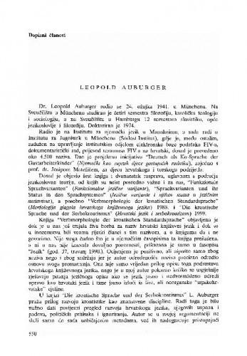 Leopold Auburger