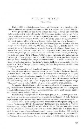Rudolf E. Peierls (1907.-1995.) / Dubravko Tadić
