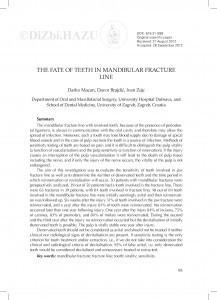 The fate of teeth in mandibular fracture line / Darko Macan, Davor Brajdić, Ivan Zajc