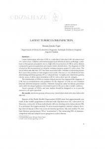 Latent tuberculosis infection / Renata Zrinski Topić