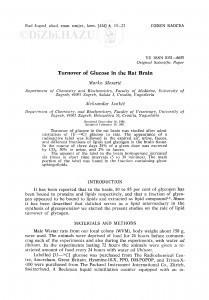 Turnover of glucose in the rat brain / M. Mesarić, A. Lutkić