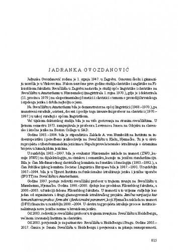 Jadranka Gvozdanović