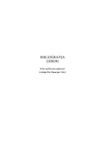 Bibliografija : izbor ; [Vilim Svečnjak] / Andreja Der-Hazarijan Vukić