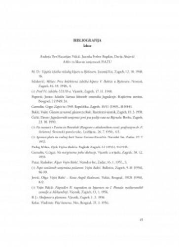 Bibliografija : izbor / Andreja Der-Hazarijan Vukić, Jasenka Ferber Bogdan, Darija Alujević