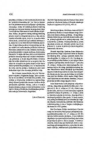 Zbornik Odsjeka za povijesne znanosti Zavoda za povijesne i društvene znanosti Hrvatske akademije znanosti i umjetnosti 28 (2010) : [prikaz] / Miron Palaveršić