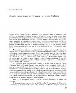 Zvonik župne crkve sv. Stjepana u Novom Štefanju / Zorislav Horvat