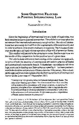 Some Objective Features in Positive International Law / Vladimir-Djuro Degan