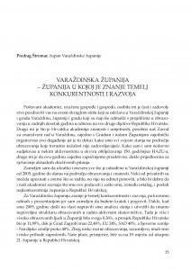 Varaždinska županija - županija u kojoj je znanje temelj konkurentnosti i razvoja : [uvodno izlaganje] / Predrag Štromar