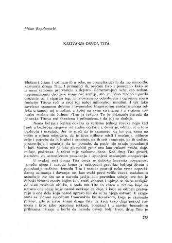 Kazivanja druga Tita / M. Bogdanović