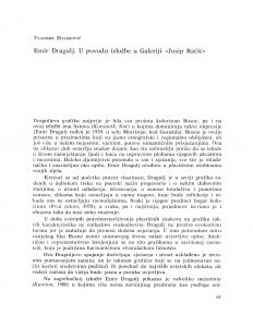 Emir Dragulj : u povodu izložbe u Galeriji Josip Račić / Vladimir Maleković