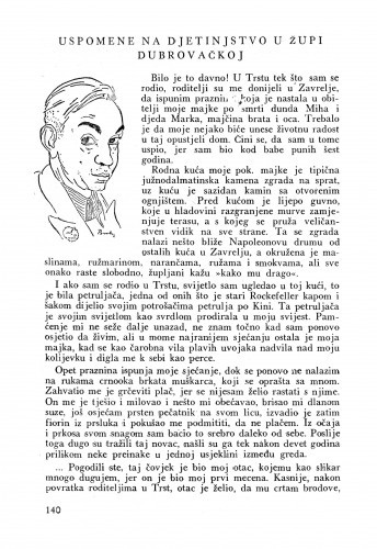 Uspomene na djetinjstvo u Župi Dubrovačkoj / Bruno Bulić