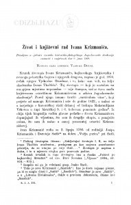 Život i književni rad Ivana Krizmanića / V. Dukat