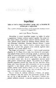 Imperfekat : kako se tvori u staroj slovenštini i prema njoj u hrvaštini ili srbštini pak u kajkavštini / M. Valjavec