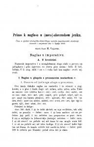 Prinos k naglasu u (novo)-slovenskom jeziku / M. Valjavec