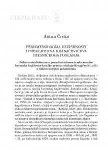 Fenomenologija uzvišenosti i prokletstva Kranjčevićeva pjesničkoga poslanja / Antun Česko