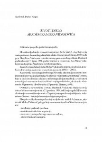 Život i djelo akademika Mirka Vidakovića