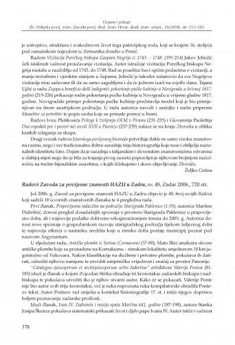 Radovi Zavoda za povijesne znanosti HAZU u Zadru, sv. 48, Zadar 2006. : [prikaz] / Tonija Vladislavić