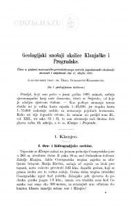 Geologijski snošaji okolice Klanjačke i Pregradske / D. Gorjanović-Kramberger