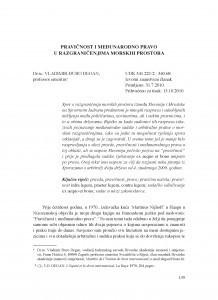Pravičnost i međunarodno pravo u razgraničenjima morskih prostora / Vladimir-Đuro Degan