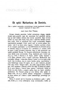 Ob optici Markantuna de Dominis / J. Torbar