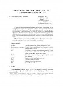 Odgovornost luke nautičkog turizma iz ugovora o vezu i osiguranje / Adriana Vincenca Padovan