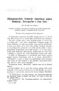 Biljnogeografske formacije zimzelenog pojasa Dalmacije, Hercegovine i Crne Gore / L. Adamović