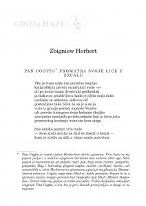 Pan Cogito : [ciklus pjesama] / Zbigniew Herbert ; preveo Pero Mioč