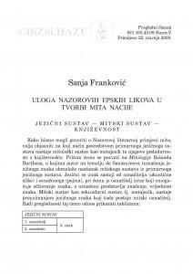 Uloga Nazorovih epskih likova u tvorbi mita nacije / Sanja Franković