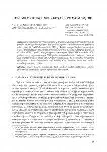 EDI-CMR Protokol 2008. - korak u pravom smjeru / Nikoleta Radionov ; Martina Mišković Aguilar