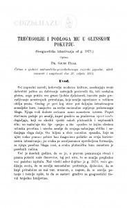 Trećogorje i podloga mu u glinskom Pokupju / Đ. Pilar