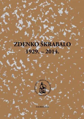 Zdenko Škrabalo : 1929.-2014.; uredio Željko Reiner