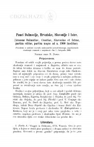 Pauci Dalmacije, Hrvatske, Slavonije i Istre : (Araneae Dalmatiae. Croatiae, Slavoniae et Istrae, partim editae, partim usque ad a. 1900 ineditae.) / N. Damin