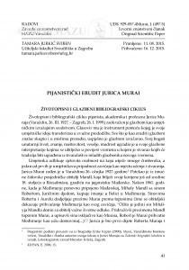 Pijanistički erudit Jurica Murai / Tamara Jurkić Sviben
