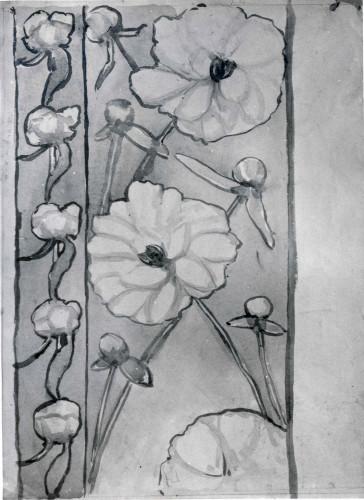 Raškaj, Slava (1877-1906) : Vinjeta s bijelim cvijećem