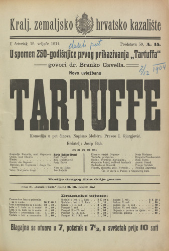 Tartuffe Komedija u 5 činova