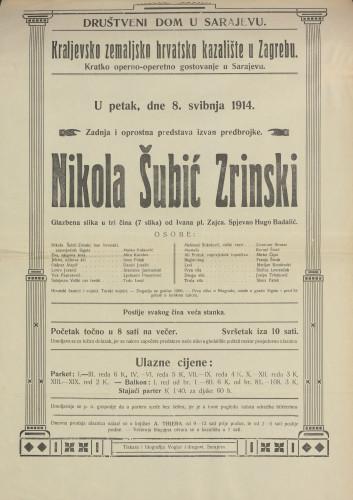 Nikola Šubić Zrinski : Glazbena slika u tri čina (7 slika)