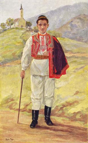 Rojc, Nasta (1883-1964) : Hrvatska narodna nošnja (muška)